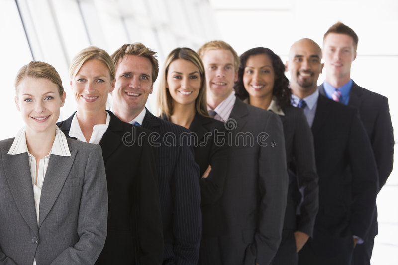 Download Line up of office staff stock image. Image of interracial - 5293383