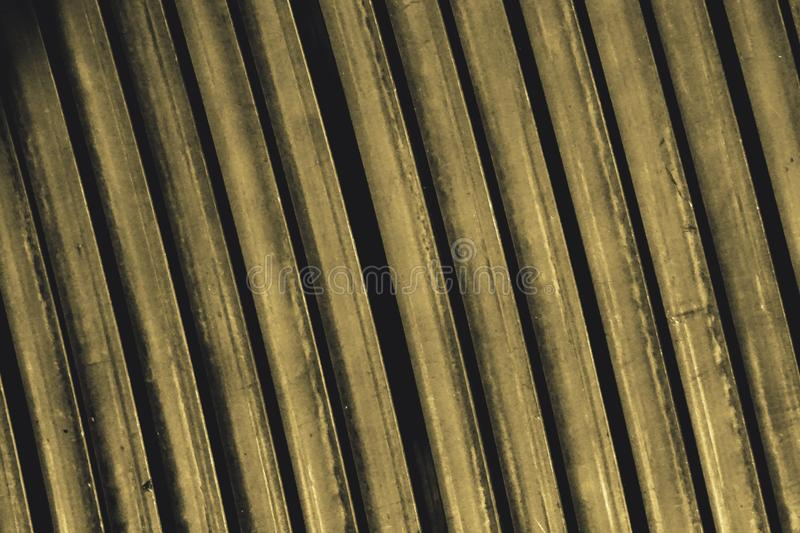Line up yellow metal slat. Abstract of line up yellow metal slat for background used stock images
