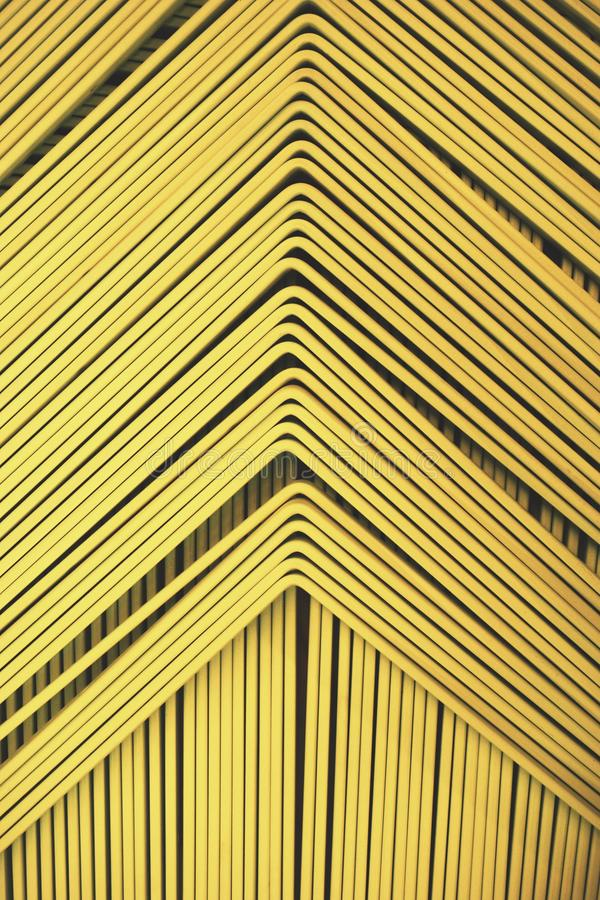 Line up yellow metal slat. Abstract of line up yellow metal slat for background used stock photography