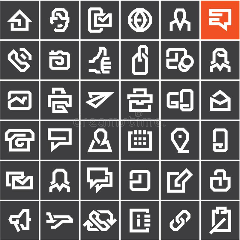 Line web icons set royalty free illustration