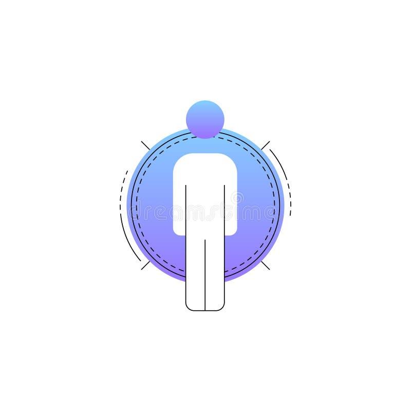 Linea al neon icona di vettore dell'uomo d'affari illustrazione vettoriale