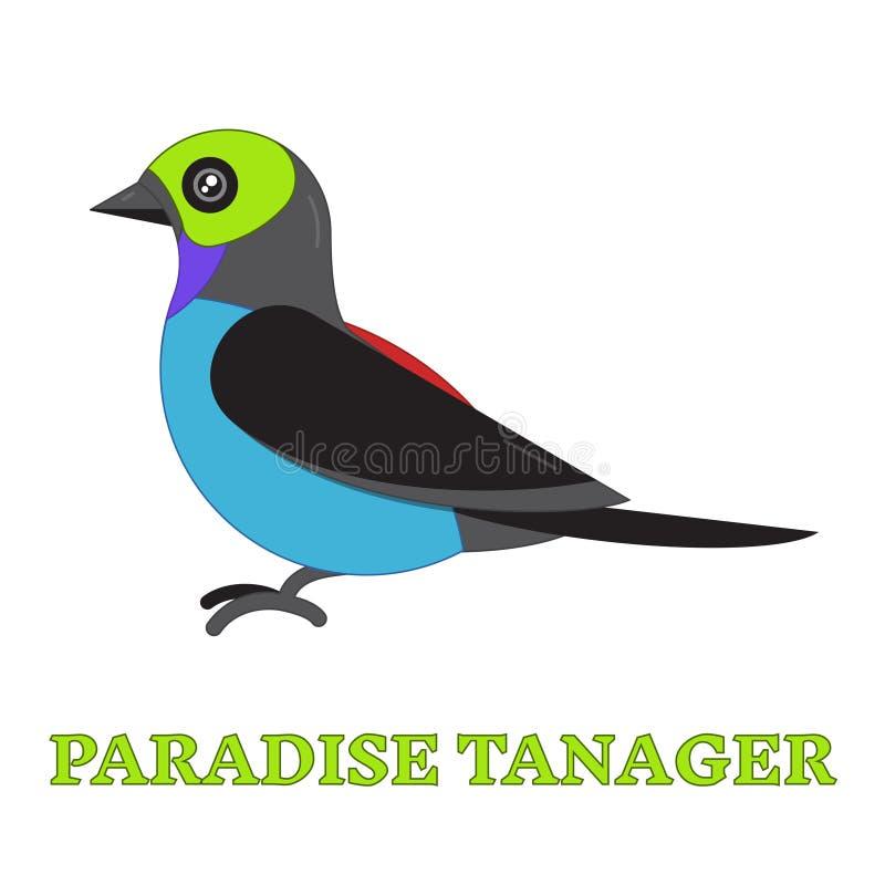 Linea Art Icon dell'uccello del Tanager di paradiso royalty illustrazione gratis
