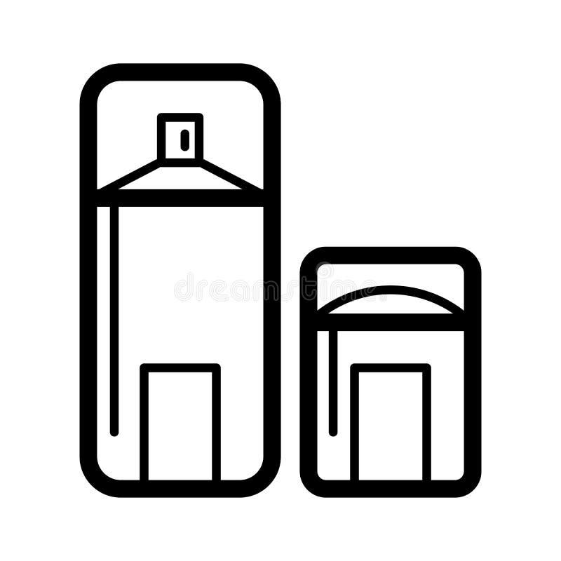 Linea asciutta icona del deodorante Icona di vettore del deodorante in stick illustrazione di stock