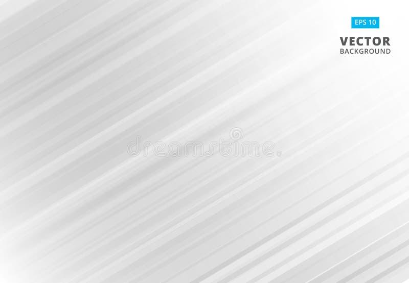 Linea astratta fondo bianco e grigio del modello con le bande La VE illustrazione vettoriale