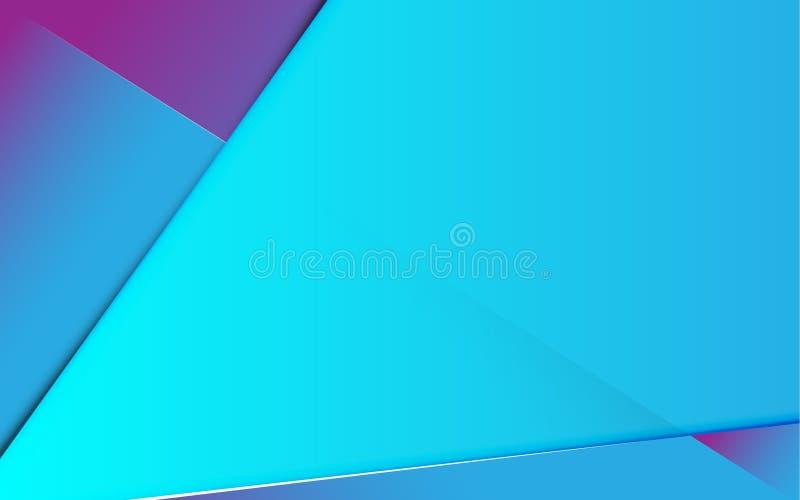Linea astratta fondo d'avanguardia futuro blu e porpora di pendenza dell'insegna royalty illustrazione gratis