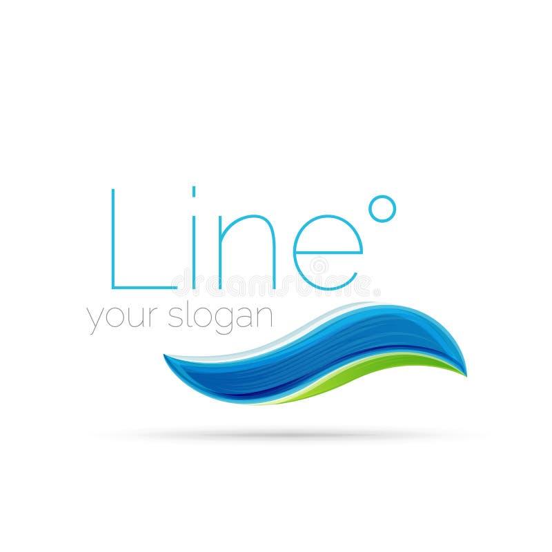 Linea astratta logo dell'onda illustrazione vettoriale