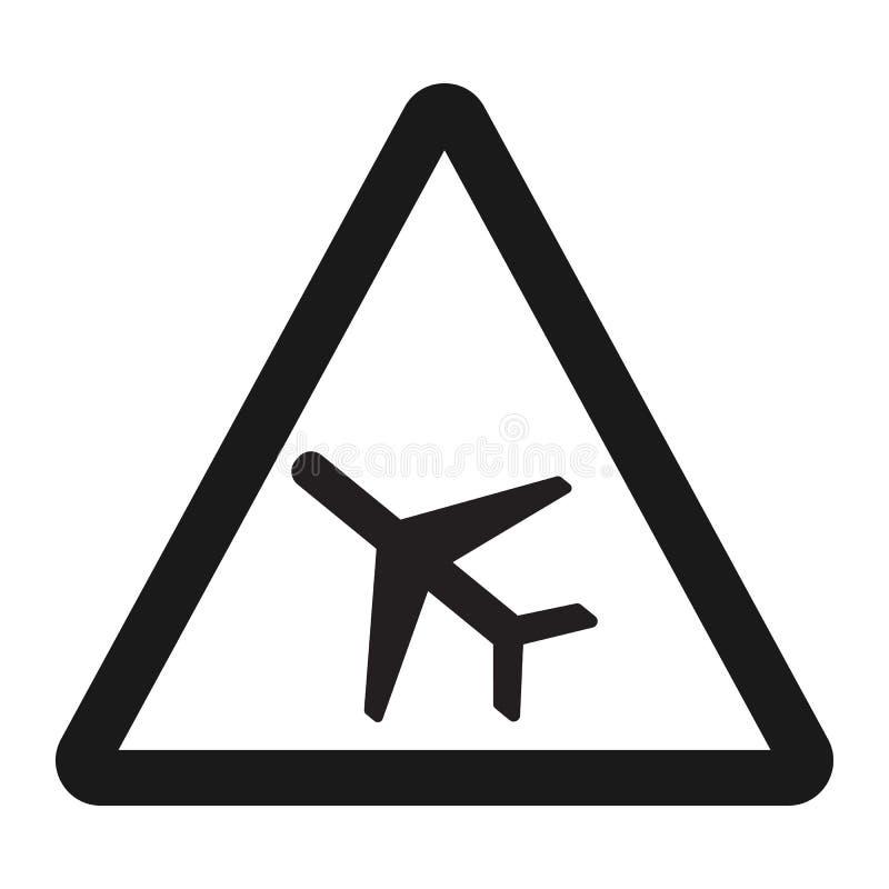 Linea bassa icona del segno degli aerei di volo illustrazione vettoriale