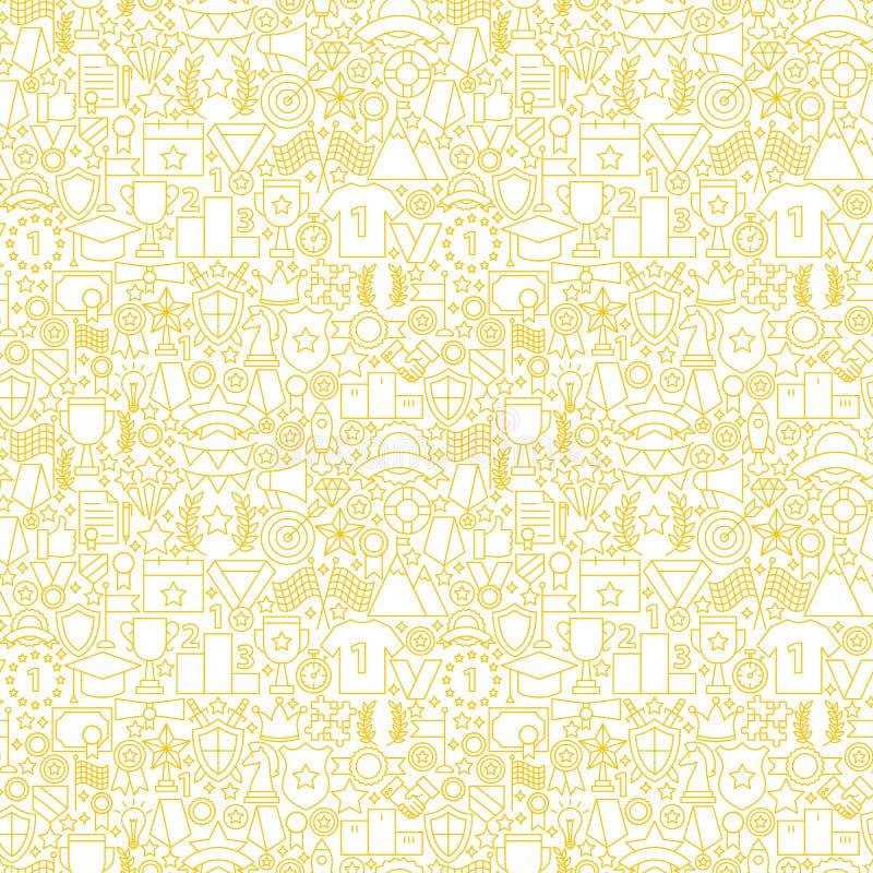 Linea bianca modello senza cuciture del premio illustrazione di stock