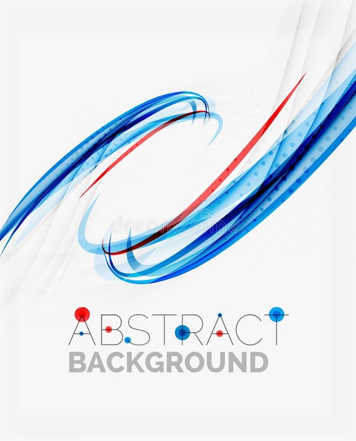 Linea blu e rossa fresca dell'onda royalty illustrazione gratis
