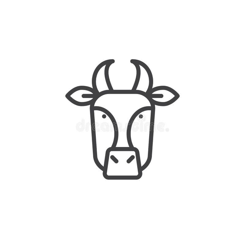 Linea capa icona della mucca royalty illustrazione gratis