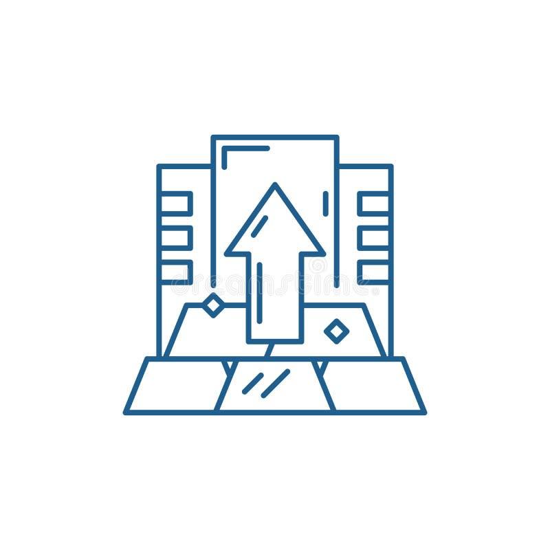 Linea capitale concetto dell'icona Simbolo piano capitale di vettore, segno, illustrazione del profilo illustrazione vettoriale