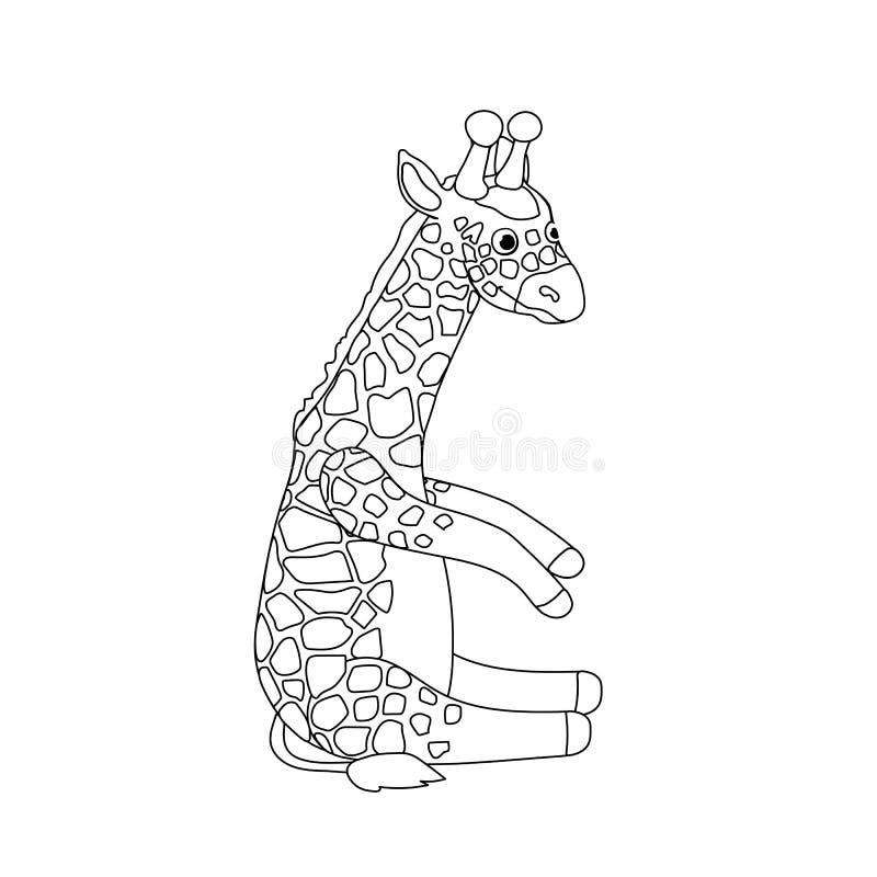 Linea clipart animale di vettore del fumetto royalty illustrazione gratis