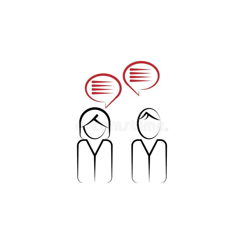 Linea colorata icona del collegamento 2 del cliente Illustrazione semplice dell'elemento colorato Progettazione di simbolo del pr illustrazione di stock