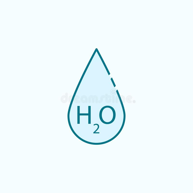 linea colorata icona della goccia di acqua 2 Illustrazione semplice dell'elemento colorato progettazione di simbolo del profilo d illustrazione di stock