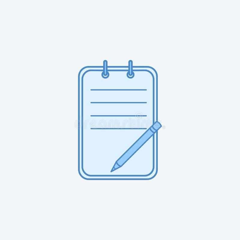 linea colorata icona della lista di controllo 2 Illustrazione scura e blu-chiaro semplice dell'elemento progettazione di simbolo  royalty illustrazione gratis