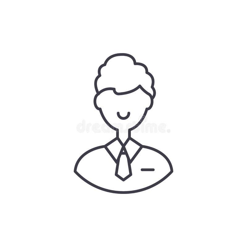 Linea concetto degli impiegati di ufficio dell'icona Illustrazione lineare di vettore degli impiegati di ufficio, simbolo, segno illustrazione di stock