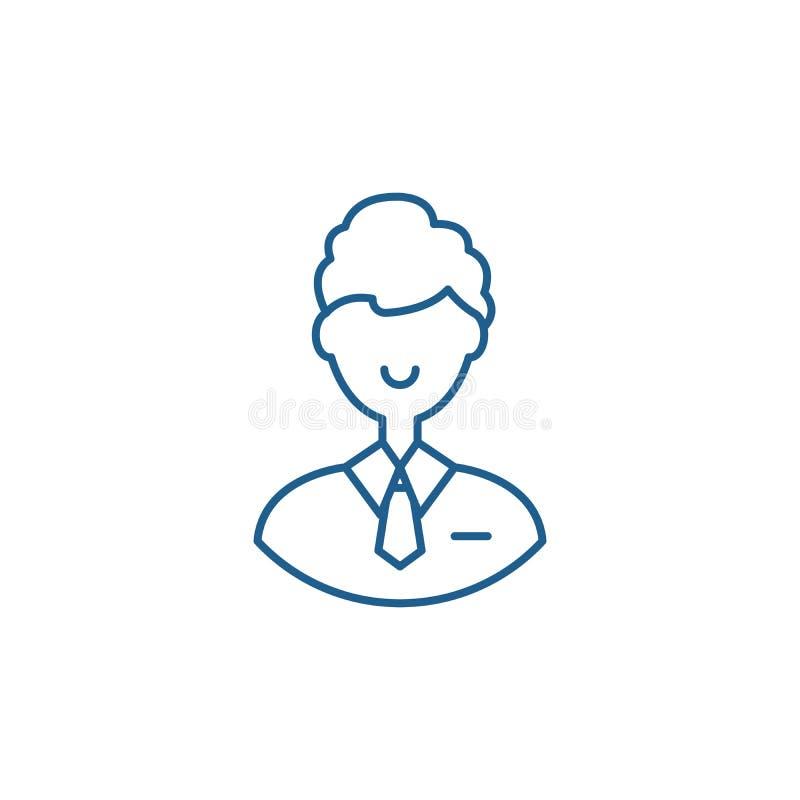 Linea concetto degli impiegati di ufficio dell'icona Simbolo piano di vettore degli impiegati di ufficio, segno, illustrazione de royalty illustrazione gratis