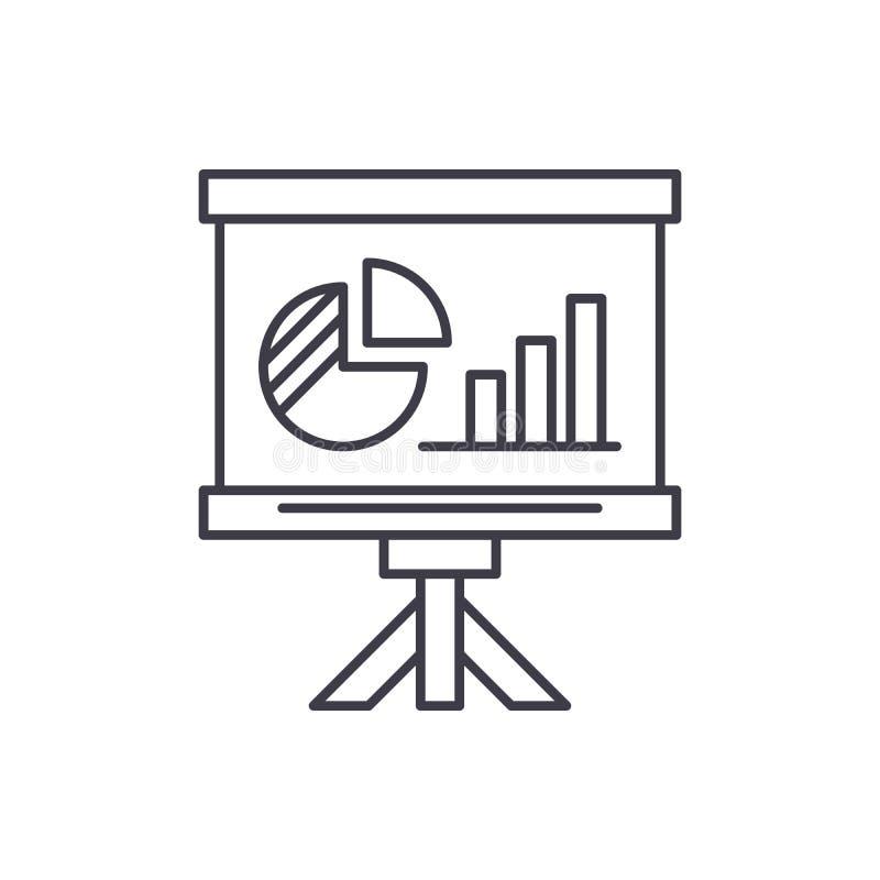 Linea concetto del bordo di presentazione dell'icona Illustrazione lineare di vettore del bordo di presentazione, simbolo, segno royalty illustrazione gratis