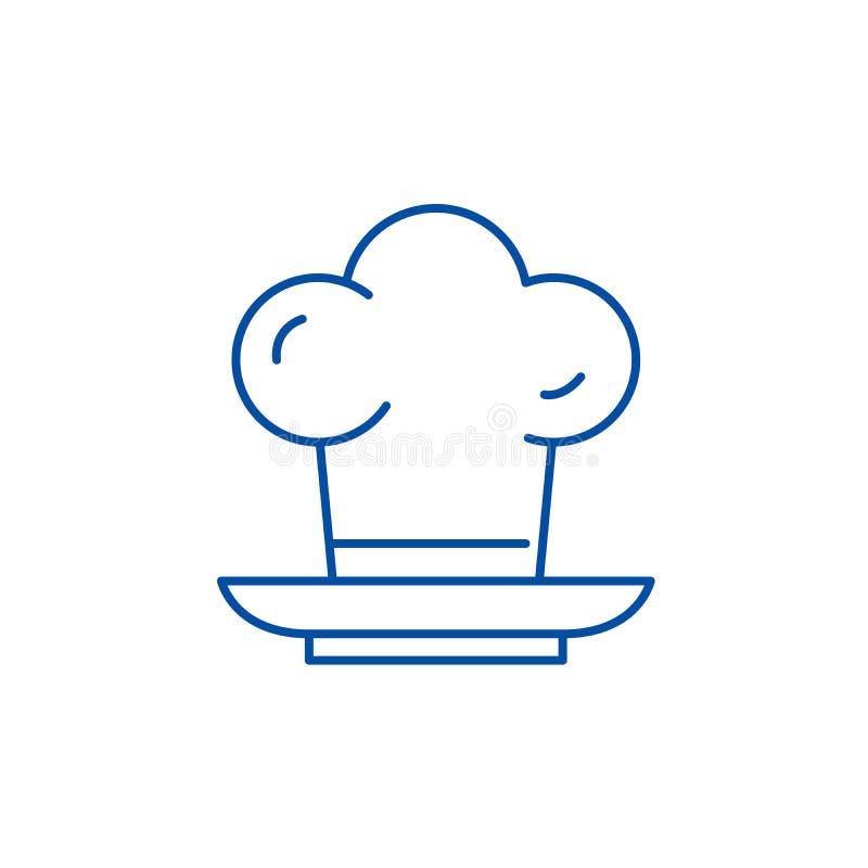 Linea concetto del fornello dell'icona Simbolo piano di vettore del fornello, segno, illustrazione del profilo royalty illustrazione gratis
