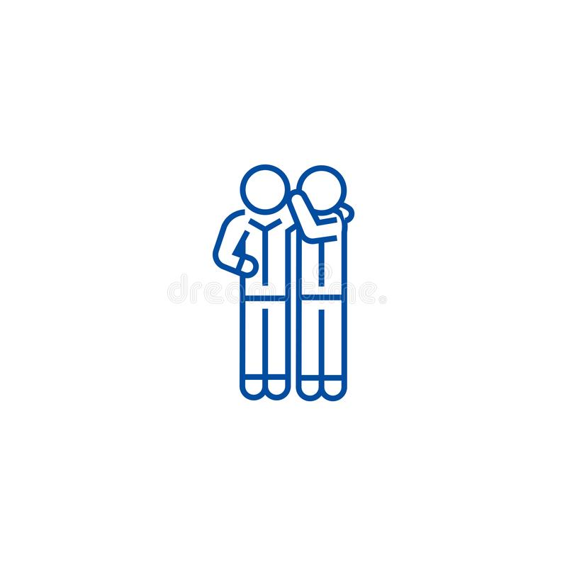 Linea concetto del gossip dell'icona Simbolo piano di vettore del gossip, segno, illustrazione del profilo illustrazione di stock