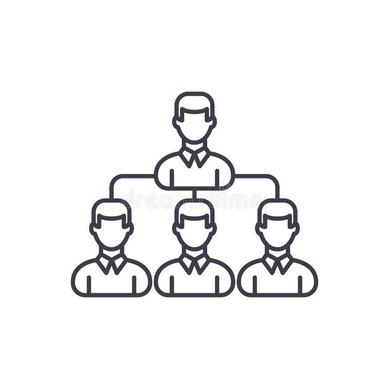 Linea concetto del gruppo di sogno dell'icona Illustrazione lineare di vettore del gruppo di sogno, simbolo, segno royalty illustrazione gratis