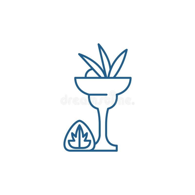 Linea concetto del liquore dell'icona Simbolo piano di vettore del liquore, segno, illustrazione del profilo royalty illustrazione gratis