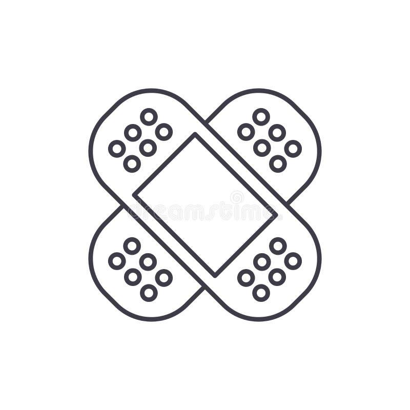 Linea concetto della toppa dell'icona Illustrazione lineare di vettore della toppa, simbolo, segno royalty illustrazione gratis