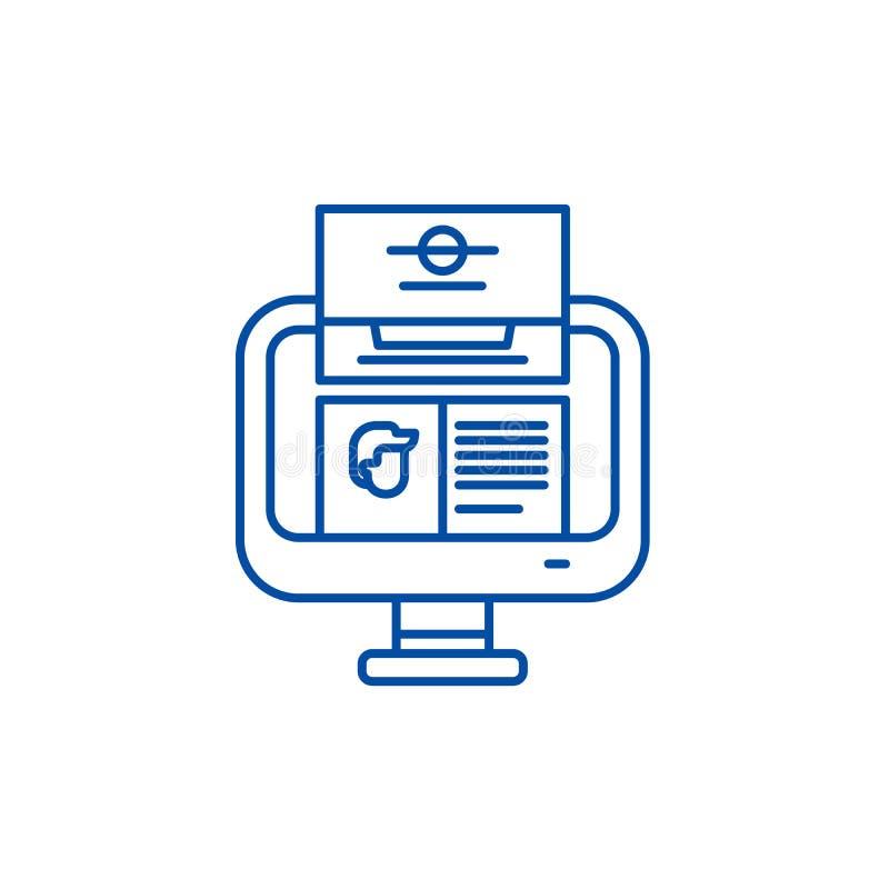 Linea concetto di analisi di unit? dell'icona Simbolo piano di vettore di analisi di unità, segno, illustrazione del profilo illustrazione di stock