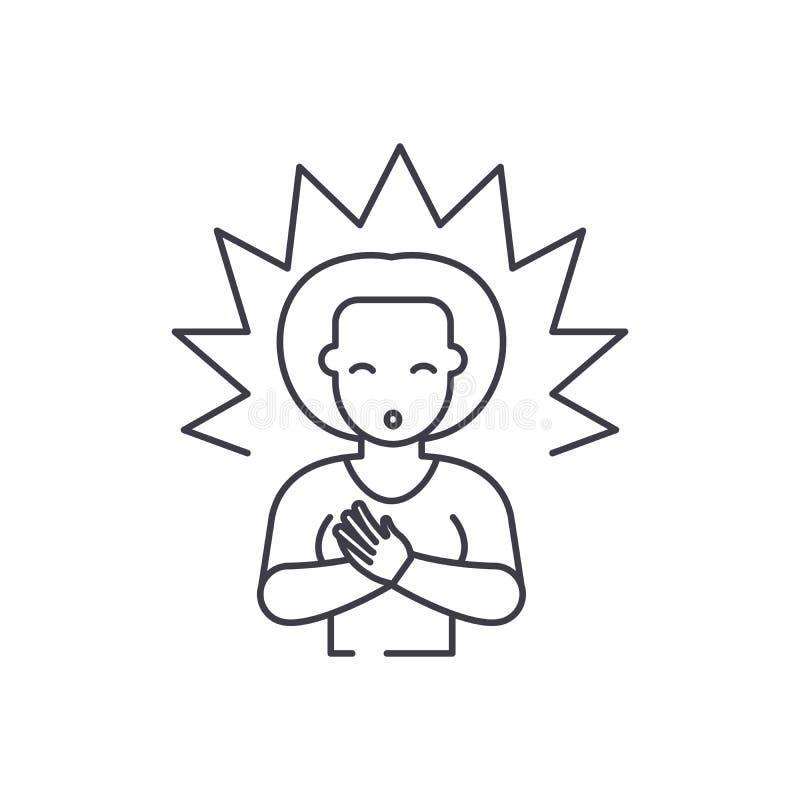 Linea concetto di chiarimento dell'icona Illustrazione lineare di vettore di chiarimento, simbolo, segno royalty illustrazione gratis