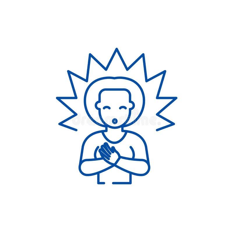 Linea concetto di chiarimento dell'icona Simbolo piano di vettore di chiarimento, segno, illustrazione del profilo royalty illustrazione gratis