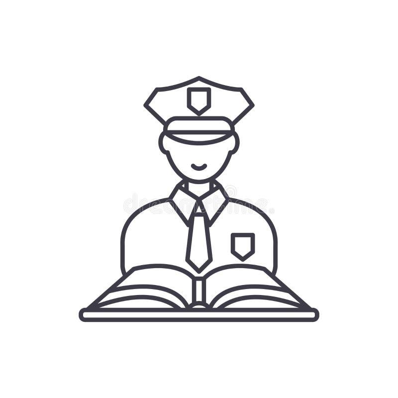 Linea concetto di diritto penale dell'icona Illustrazione lineare di vettore di diritto penale, simbolo, segno illustrazione vettoriale