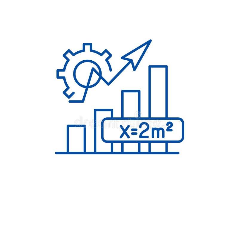 Linea concetto di formula di matematica dell'icona Simbolo piano di vettore di formula di matematica, segno, illustrazione del pr illustrazione vettoriale