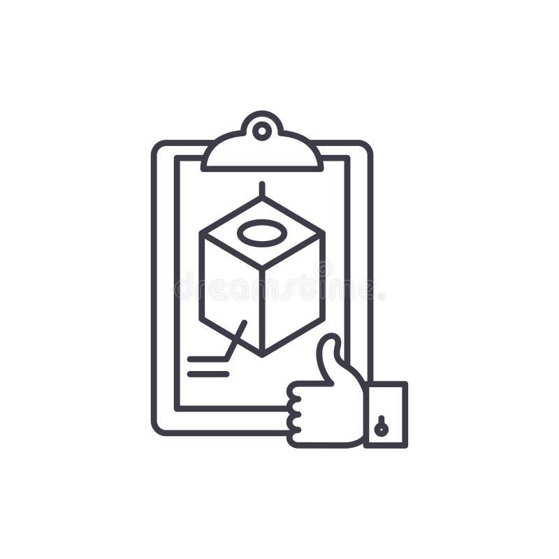Linea concetto di riconoscimento di progetto dell'icona Illustrazione lineare di vettore di riconoscimento di progetto, simbolo,  illustrazione vettoriale
