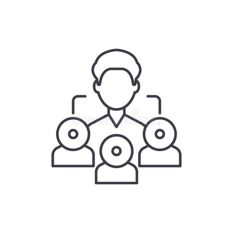 Linea concetto di vendita di rinvio dell'icona Illustrazione lineare di vettore di vendita di rinvio, simbolo, segno illustrazione di stock