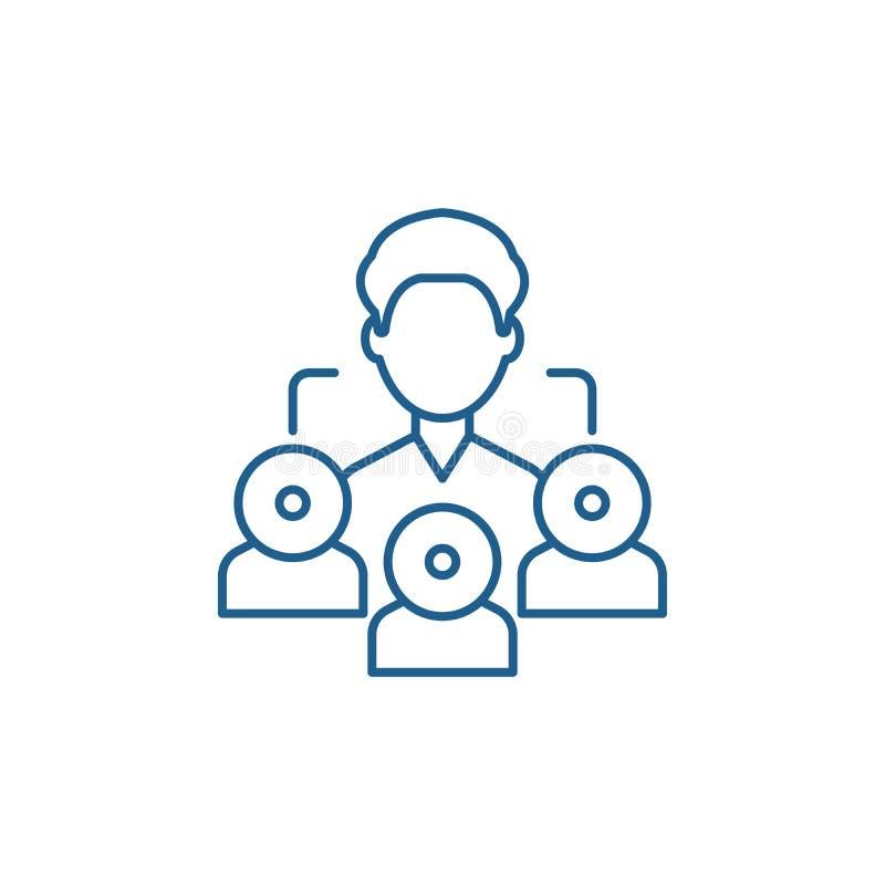 Linea concetto di vendita di rinvio dell'icona Simbolo piano di vettore di vendita di rinvio, segno, illustrazione del profilo royalty illustrazione gratis