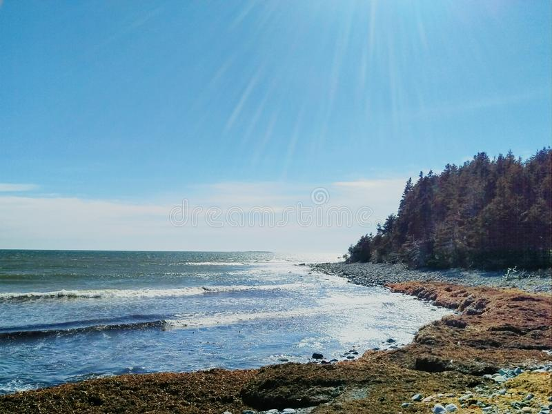 Linea costiera atlantica immagini stock libere da diritti