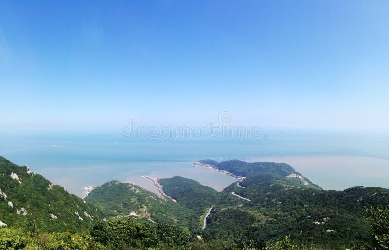 Linea costiera cinese fotografie stock libere da diritti