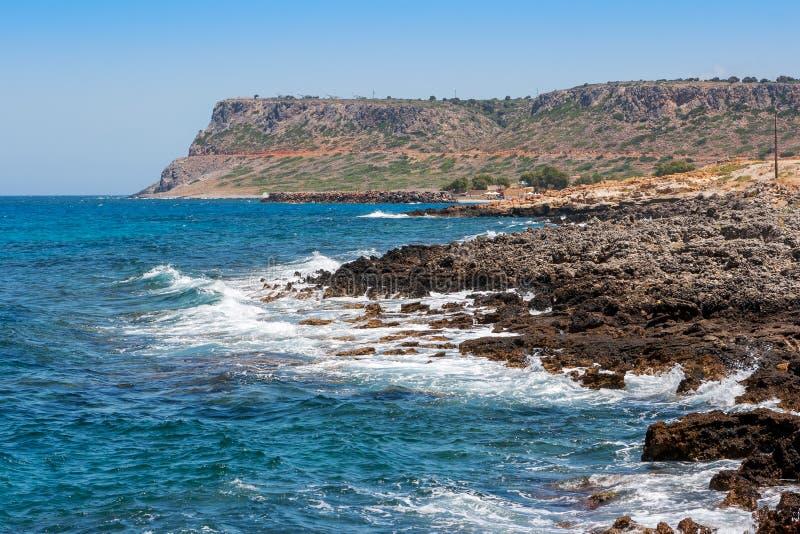 Linea costiera. Crete immagine stock libera da diritti