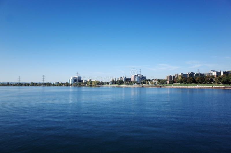 Linea costiera del lago Ontario a Burlington, Canada fotografia stock