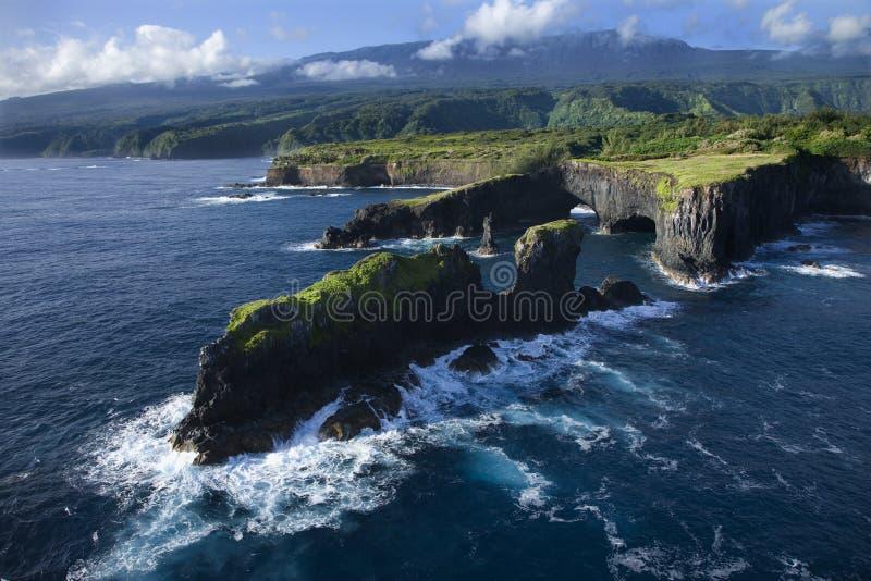 Linea costiera del Maui. immagine stock