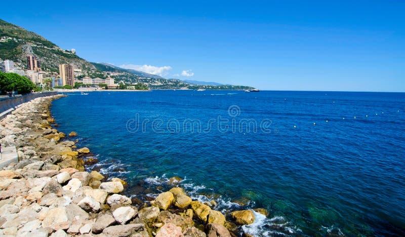 Linea costiera del Monaco immagine stock libera da diritti