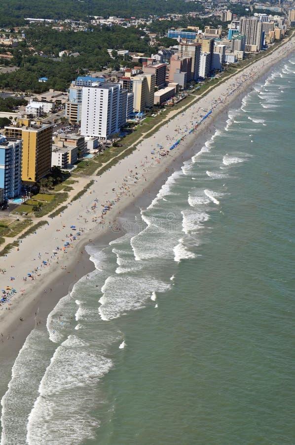 Linea costiera del Myrtle Beach fotografia stock libera da diritti
