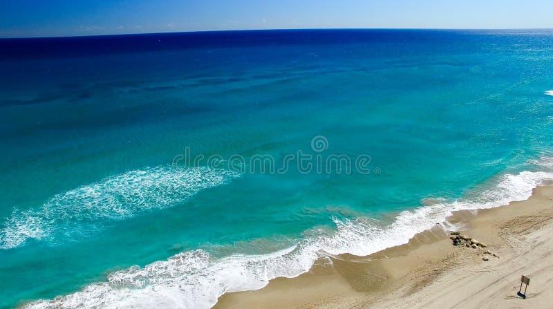 Linea costiera del Palm Beach, vista aerea di Florida fotografia stock