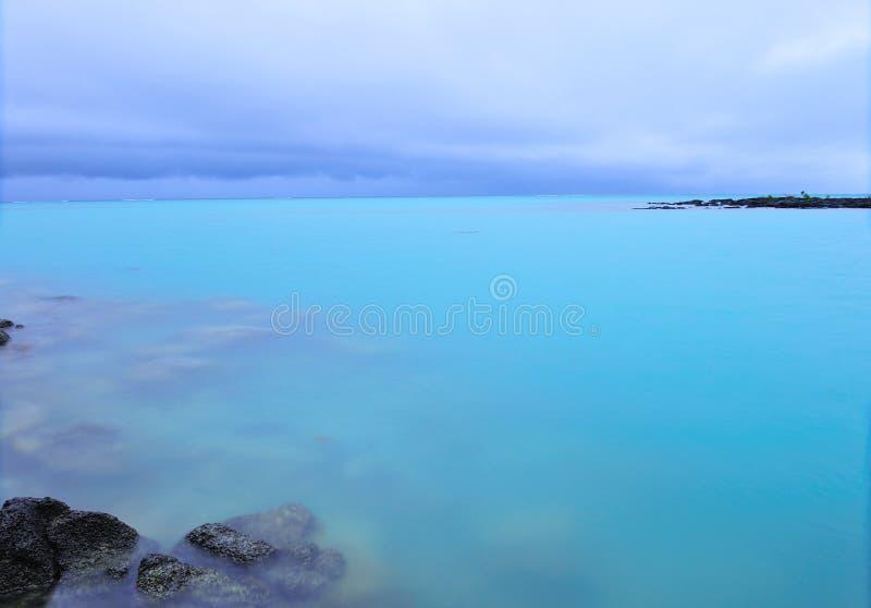 Linea costiera dell'Isola Maurizio immagini stock libere da diritti