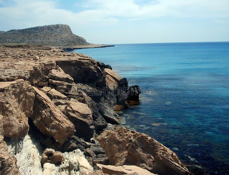 Linea costiera di Agia Napa immagine stock