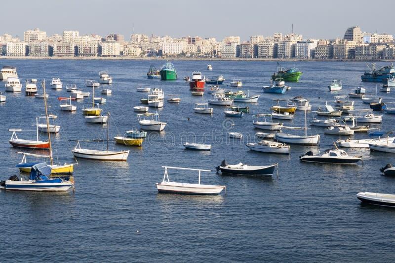 Linea costiera di Alessandria - Egitto immagini stock