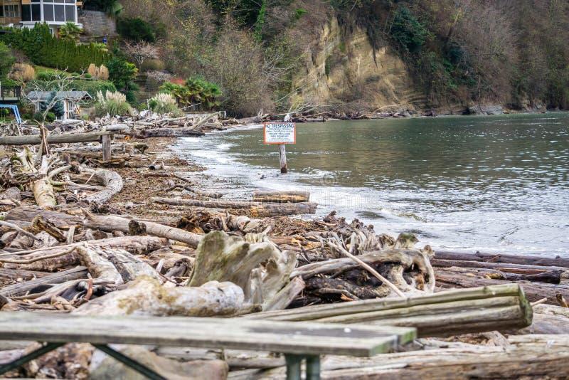 Linea costiera di area limitata fotografia stock libera da diritti