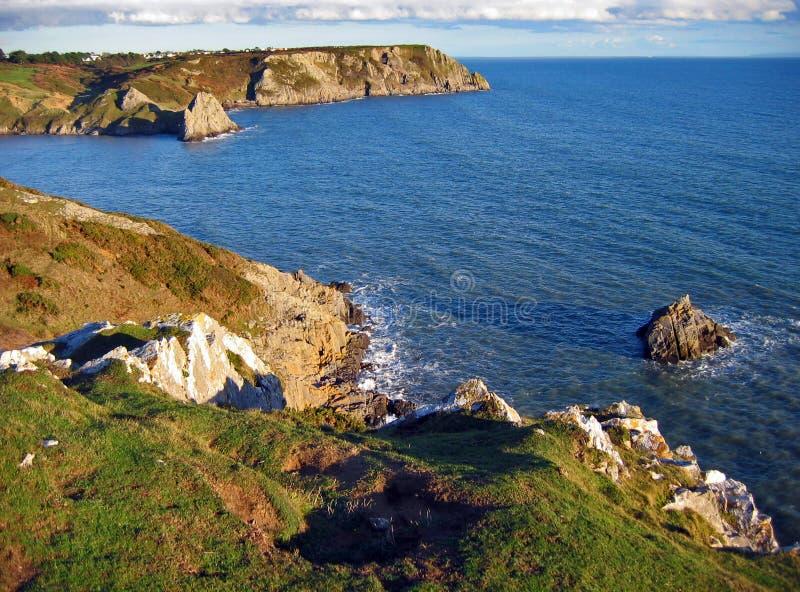 Linea costiera di Galles del sud immagine stock libera da diritti