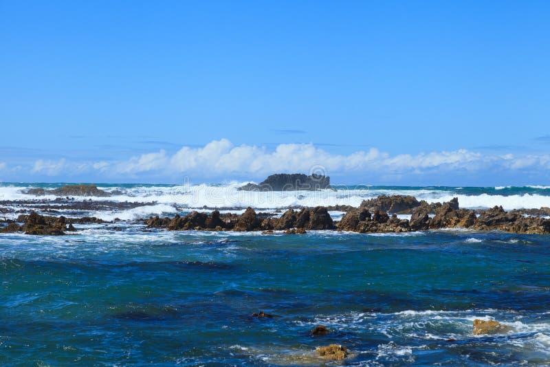 Linea costiera di Gansbaai fotografia stock libera da diritti