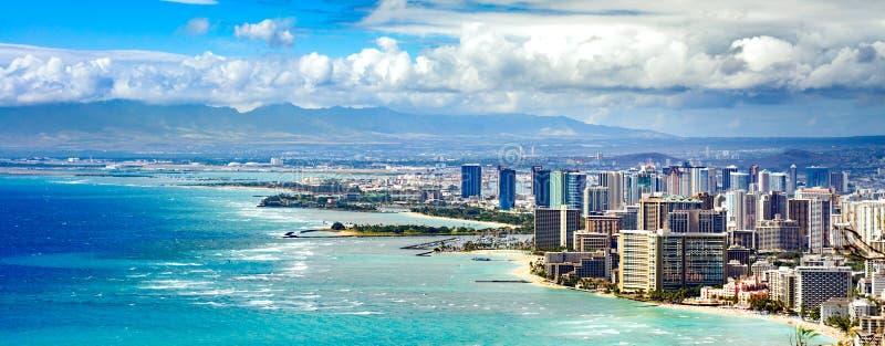 Linea costiera di Honolulu fotografie stock